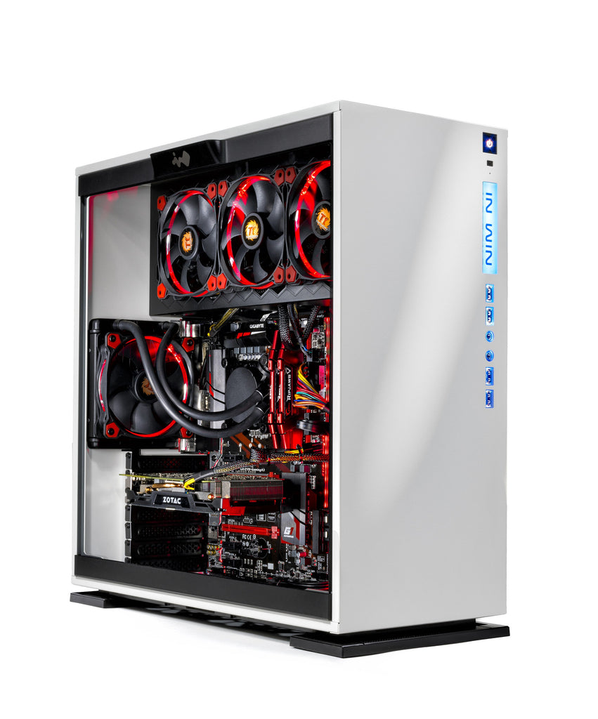 [GTX 1080 VR Ready] SkyTech Omega Gaming PC i7-7700K 4.2Ghz, Liquid Cooled, GTX 1080 8GB, 2TB HDD, 240GB SSD, 16GB DDR4, Win 10 Pro 64-bit