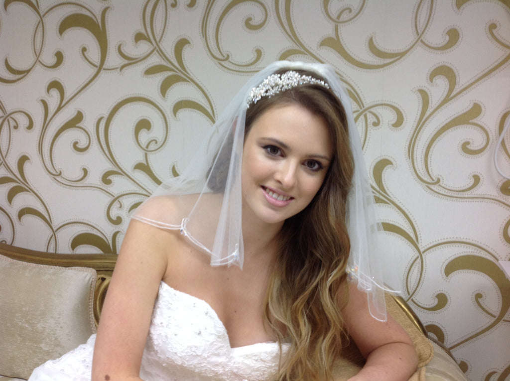 Wedding tiara and veil