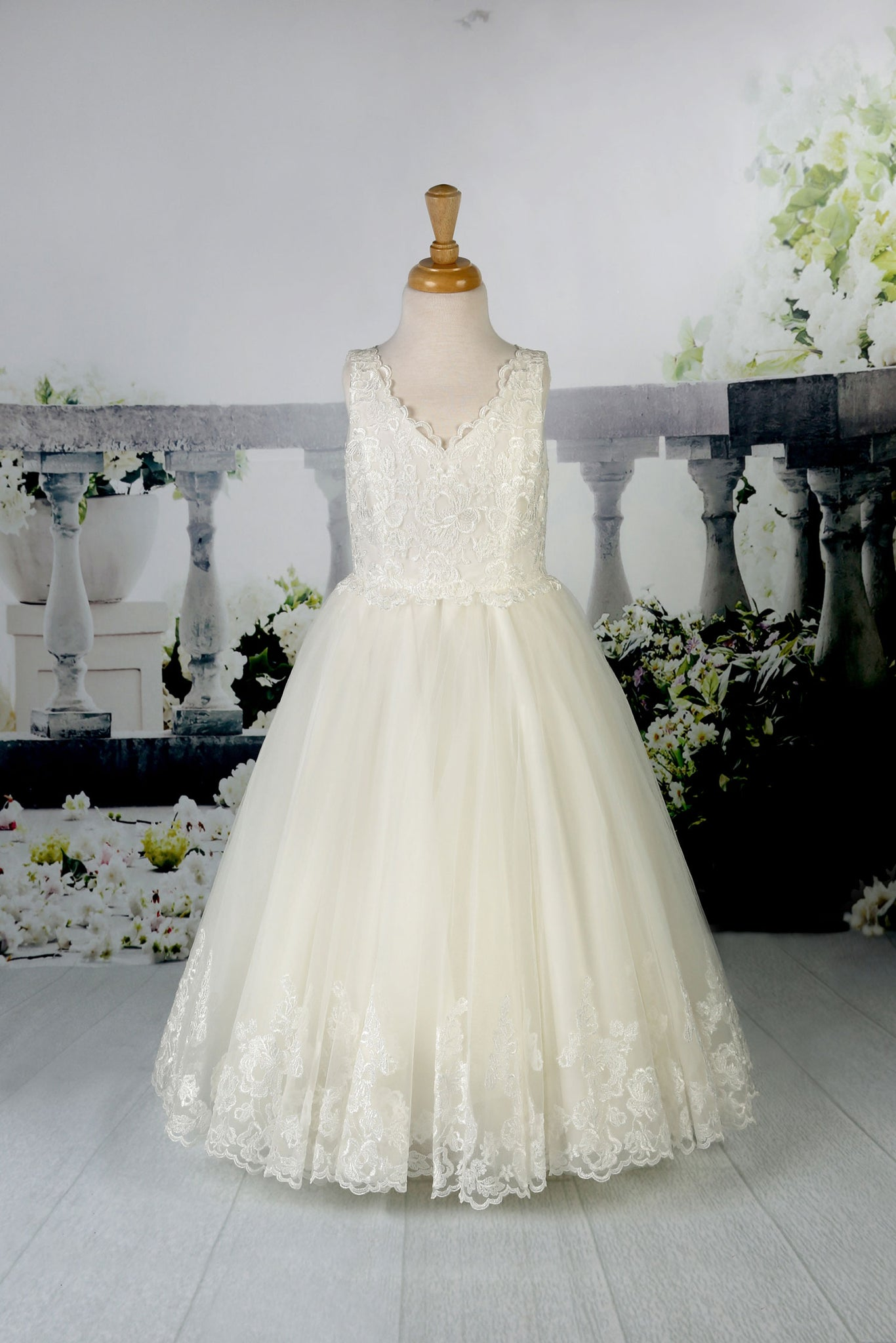 Stunning lace and tulle gown from the Emma Bridals collection