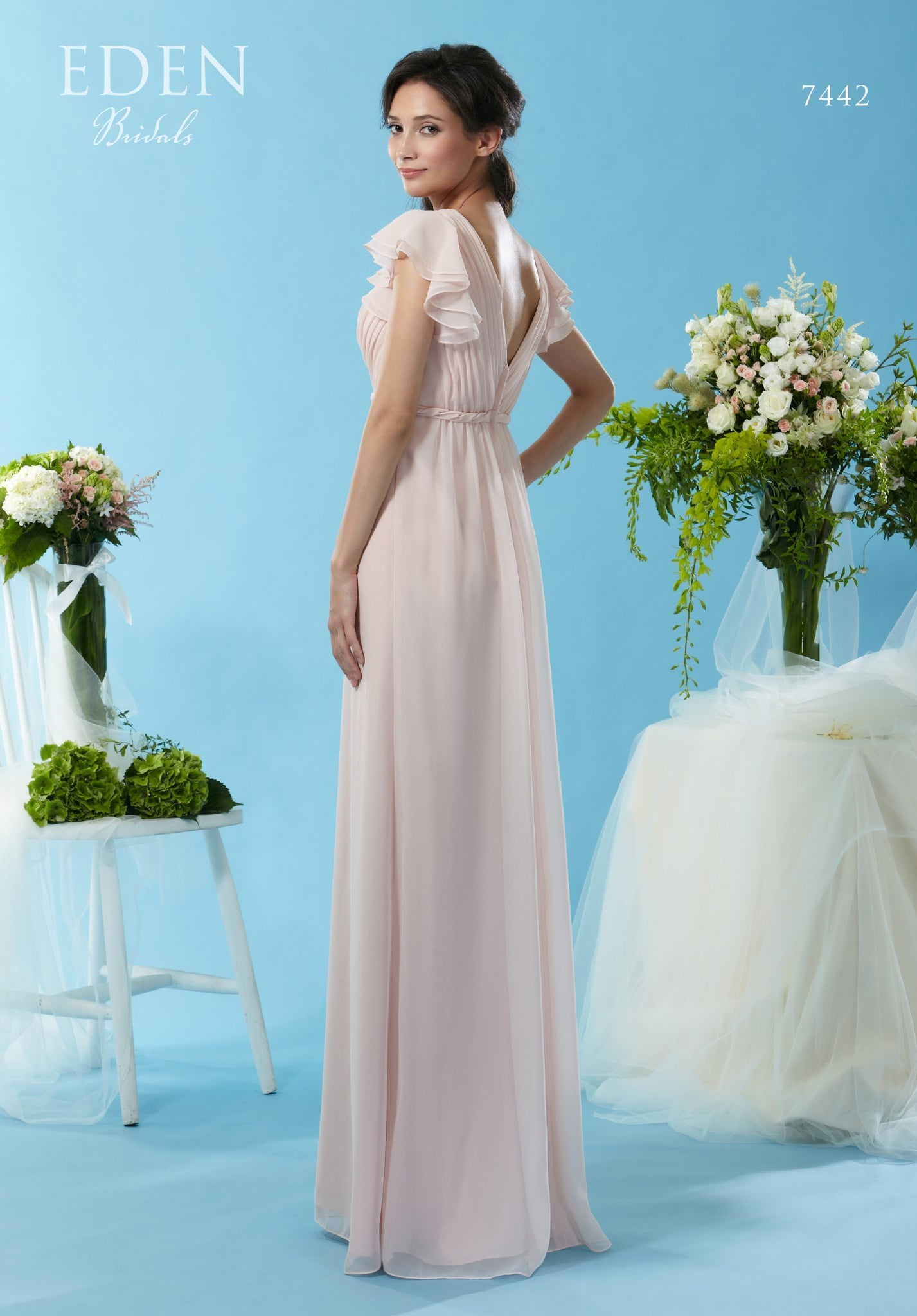 Floor length gown from the Emma Bridals collection