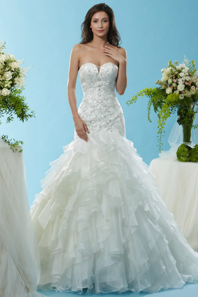 Royal Duchess Satin and Organza gown from the Emma Bridals collection