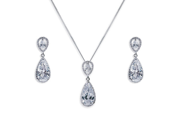 Ivory & Co - Bacall pendant and earrings set