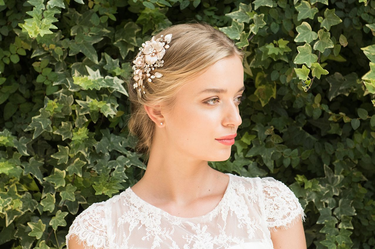 Ivory & Co - Copper Rose hairclip