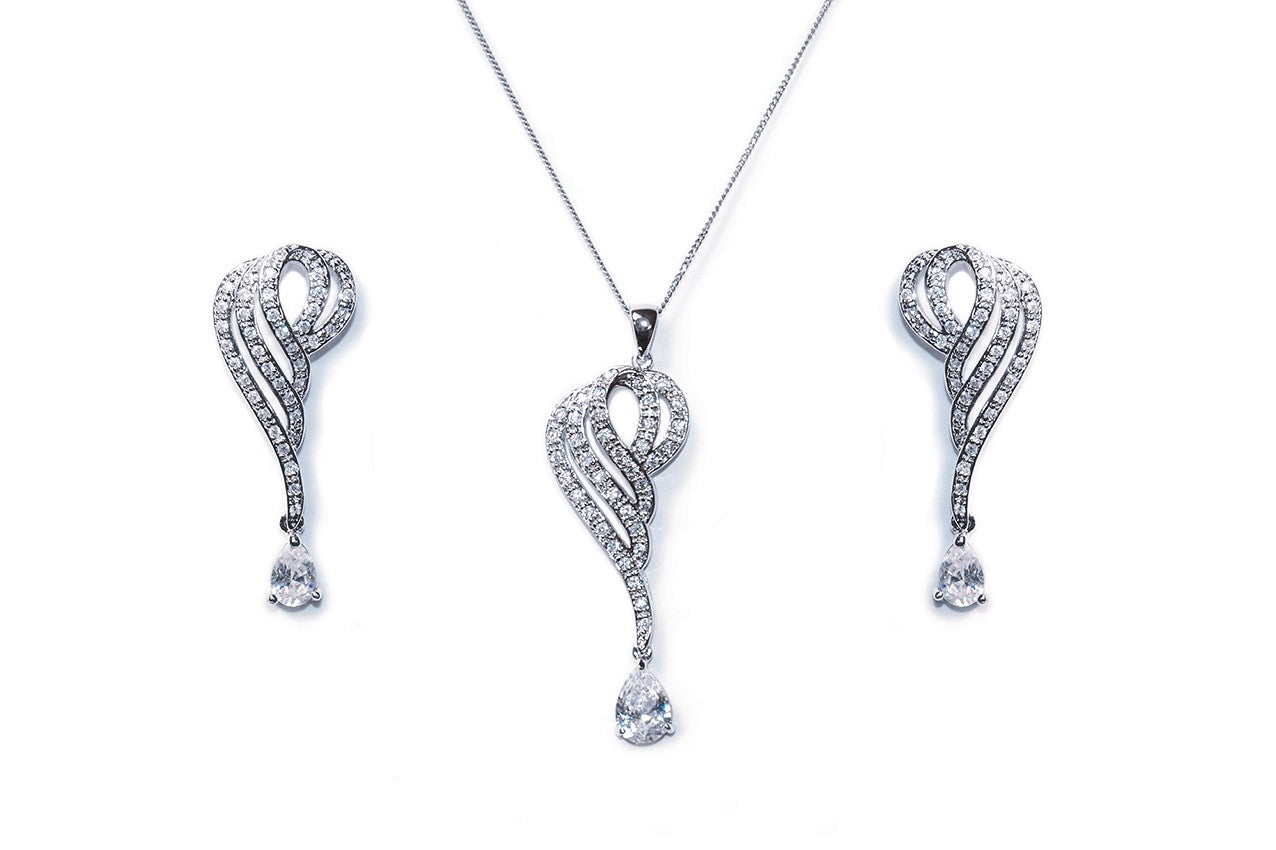Ivory & Co - Devotion Pendant and Earring set
