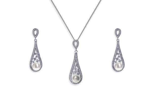 Ivory & Co - Fontaine pendant and earrings set