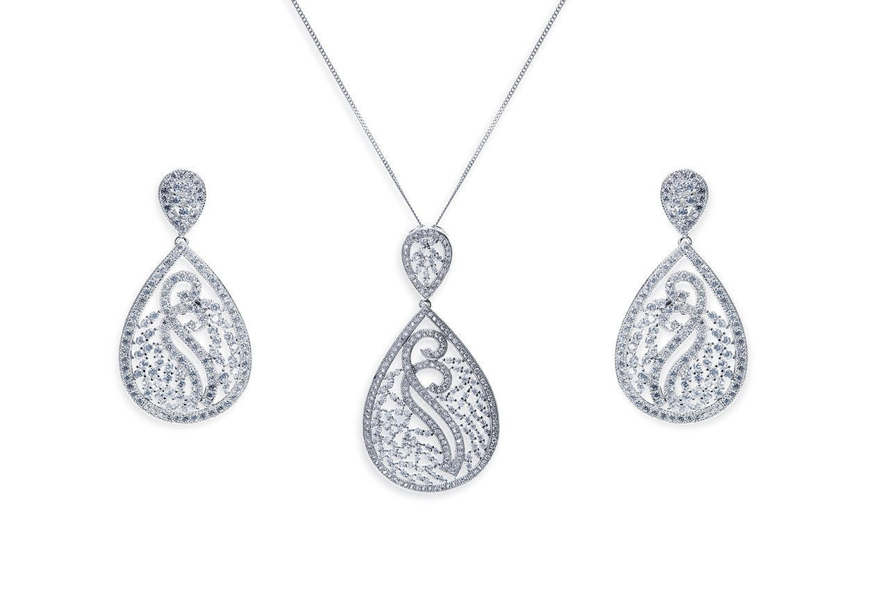 Ivory & Co - Grand Central Pendant and Earrings set