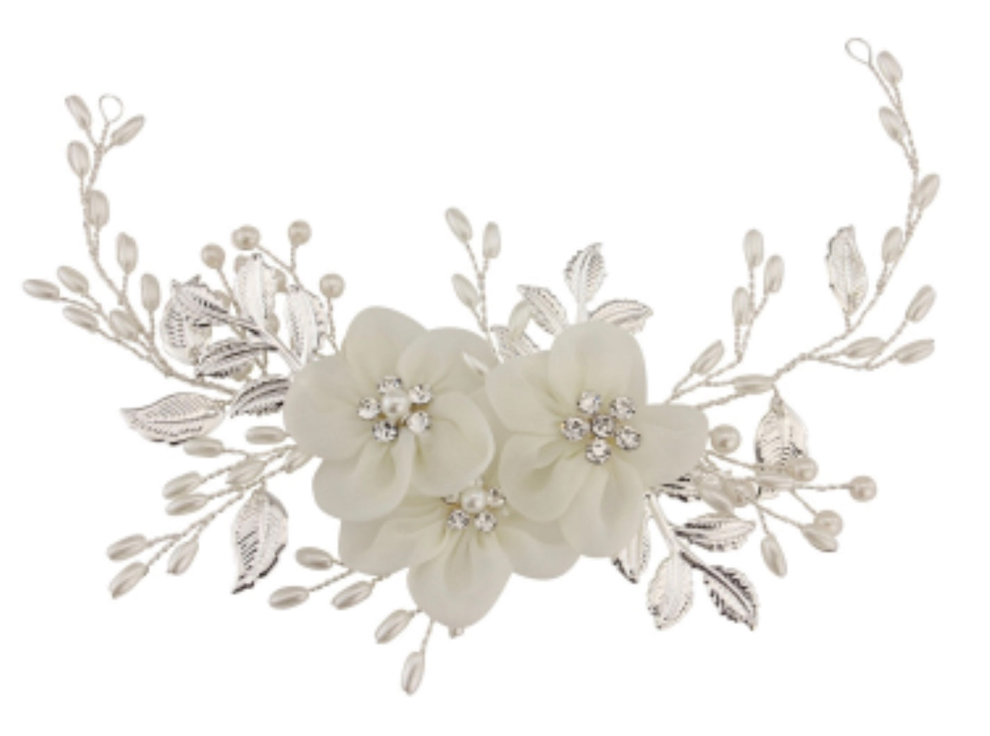 Floral enchantment pearl and diamanté headpiece