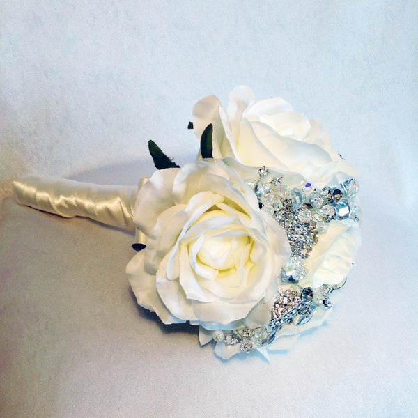 Bridesmaid's jewelled wedding bouquet