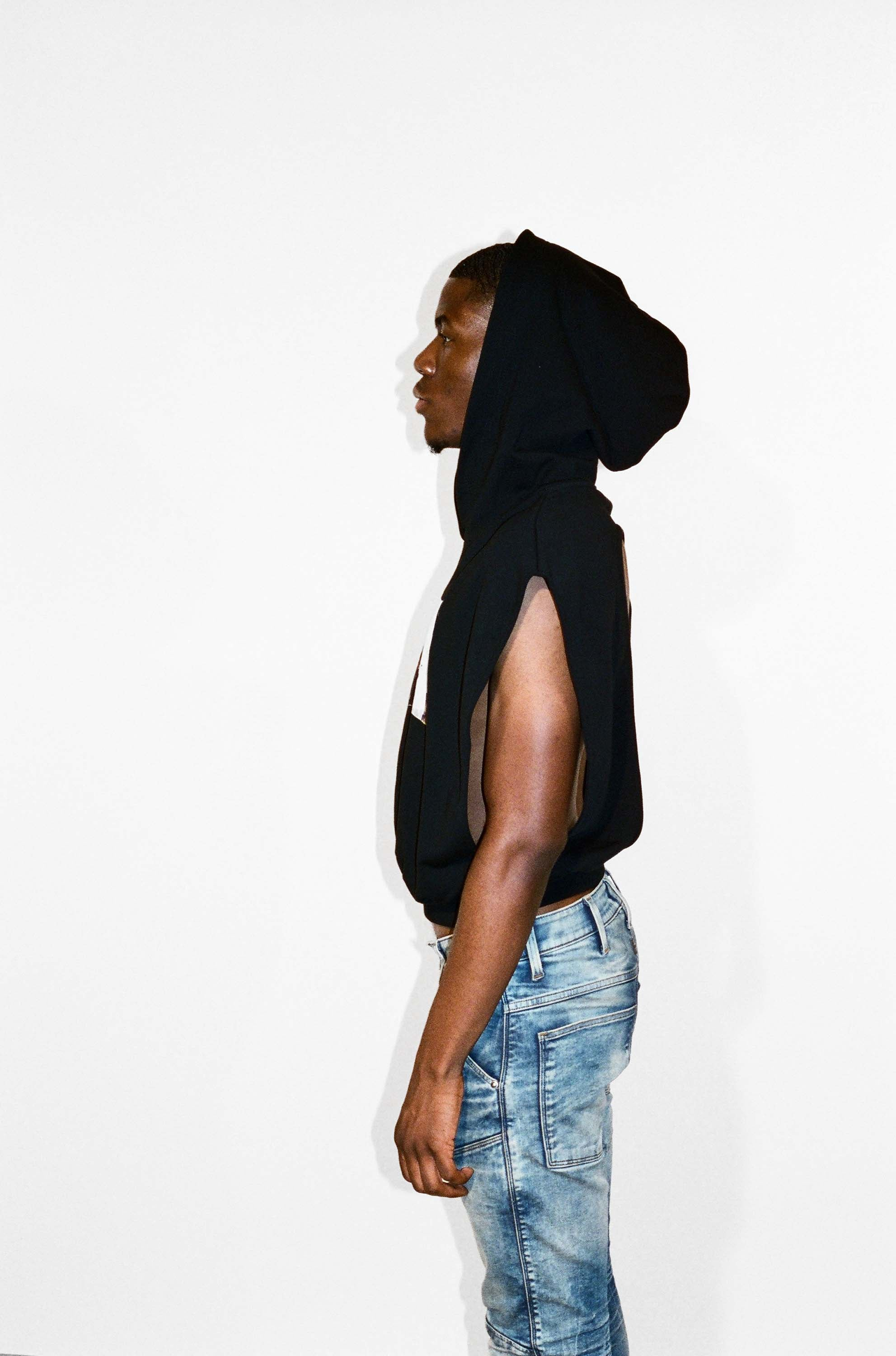 Backless/Sleeveless Hoodie Top