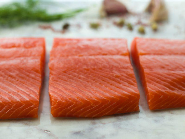 Wild Alaskan Sockeye Salmon PORTIONED Filets (COS)