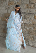 Load image into Gallery viewer, Leia Caftan Dress Tie Dye - Soft Blue