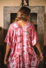 Load image into Gallery viewer, Leia Caftan Dress Tie Dye - Red Blush