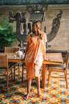 Maia Caftan Dress Tie Dye - Sunburst Orange