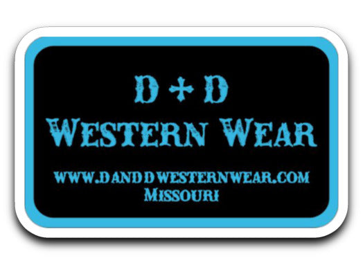 D & D Western Wear Decal