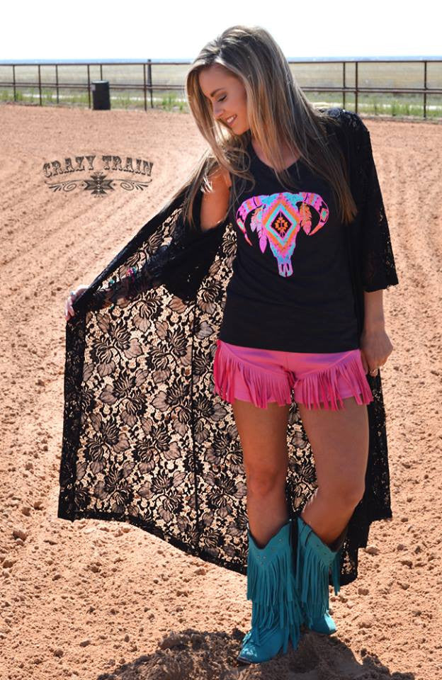 WHOA BLACK BETTY LACE DUSTER