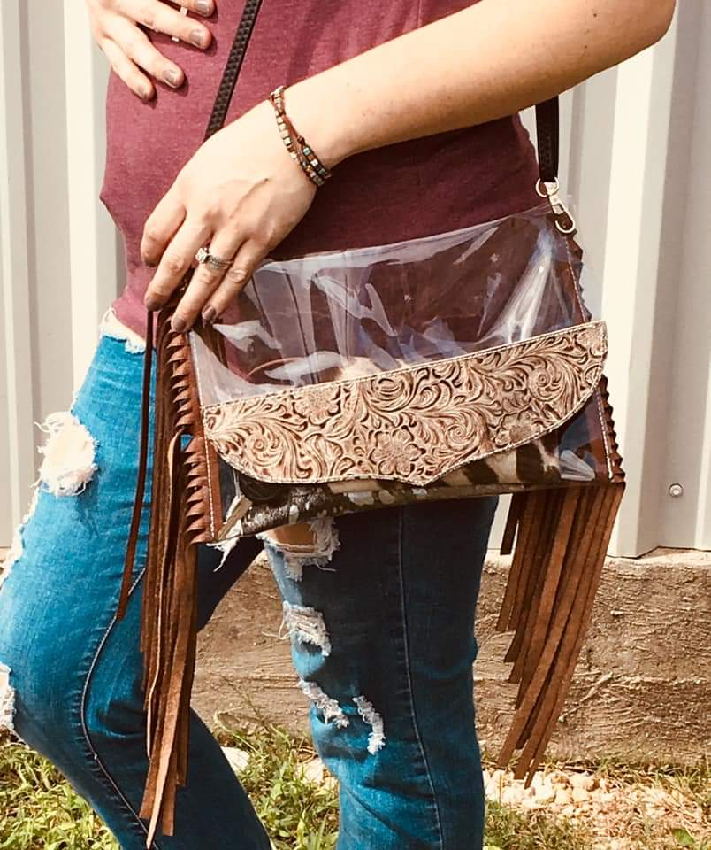 FOREVER FLORAL RODEO CLUTCH