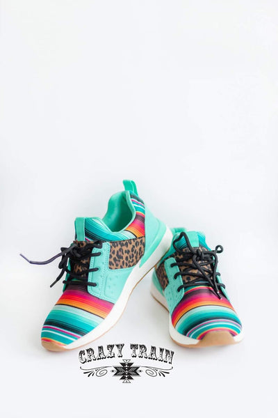 WILD SIDE TENNIS SHOES *leopard/serape