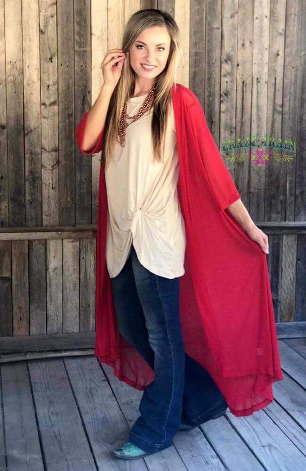 Candy Apple *RED* RODEO Duster