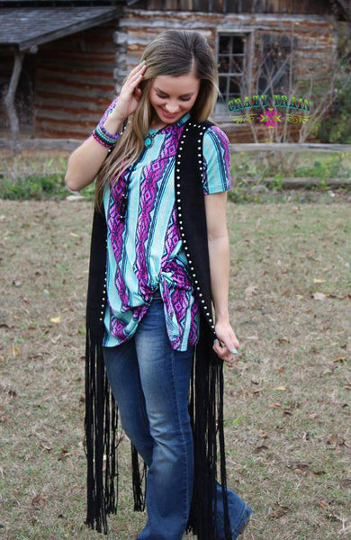 YOU'RE KNOT DREAMING - Serape Knot Top