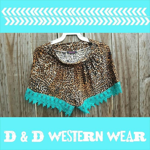 Wild Child Shorts Turquoise