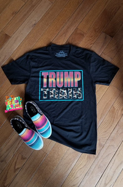 BLACK ** TRUMP TRAIN ** SERAPE