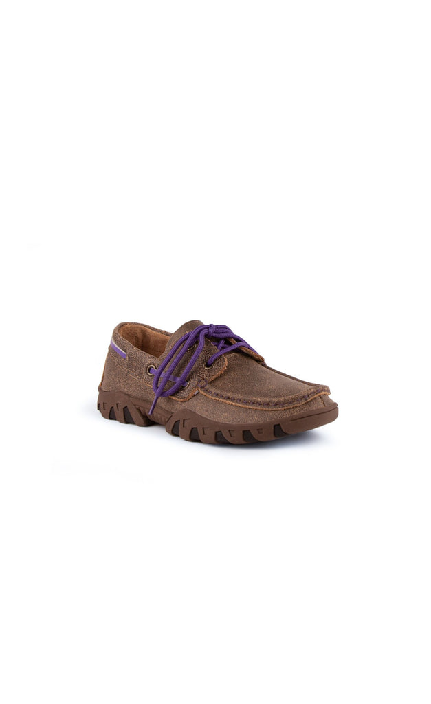 Mocha/Purple Loafer