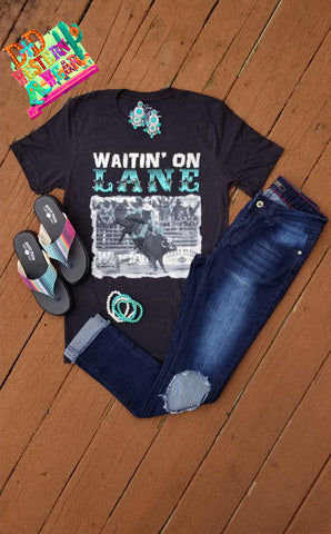 Waitin' On Lane Black Tee