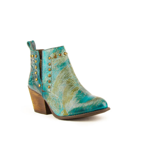 Stella BOOTIE TURQUOISE R-TOE