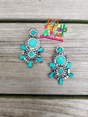 THE JESSIE JAMES TURQ EARRINGS