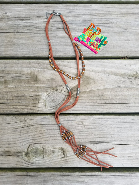 TOMBSTONE BROWN NECKLACE
