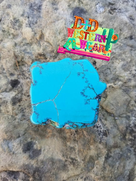 """Tombstone Turquoise Phone Grip"""