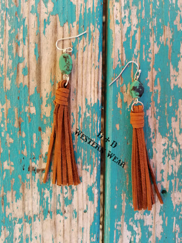 Kiowa Rust Fringe Earrings