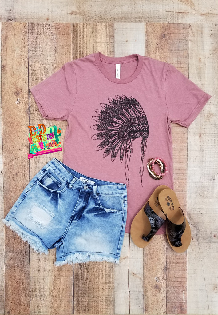 Cherokee* Headdress Tee