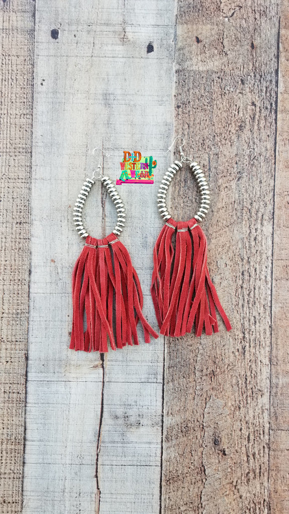 RED ** RIO GRANDE EARRINGS