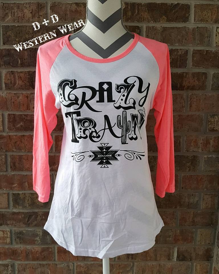 CrAzY TrAiN Baseball Tee