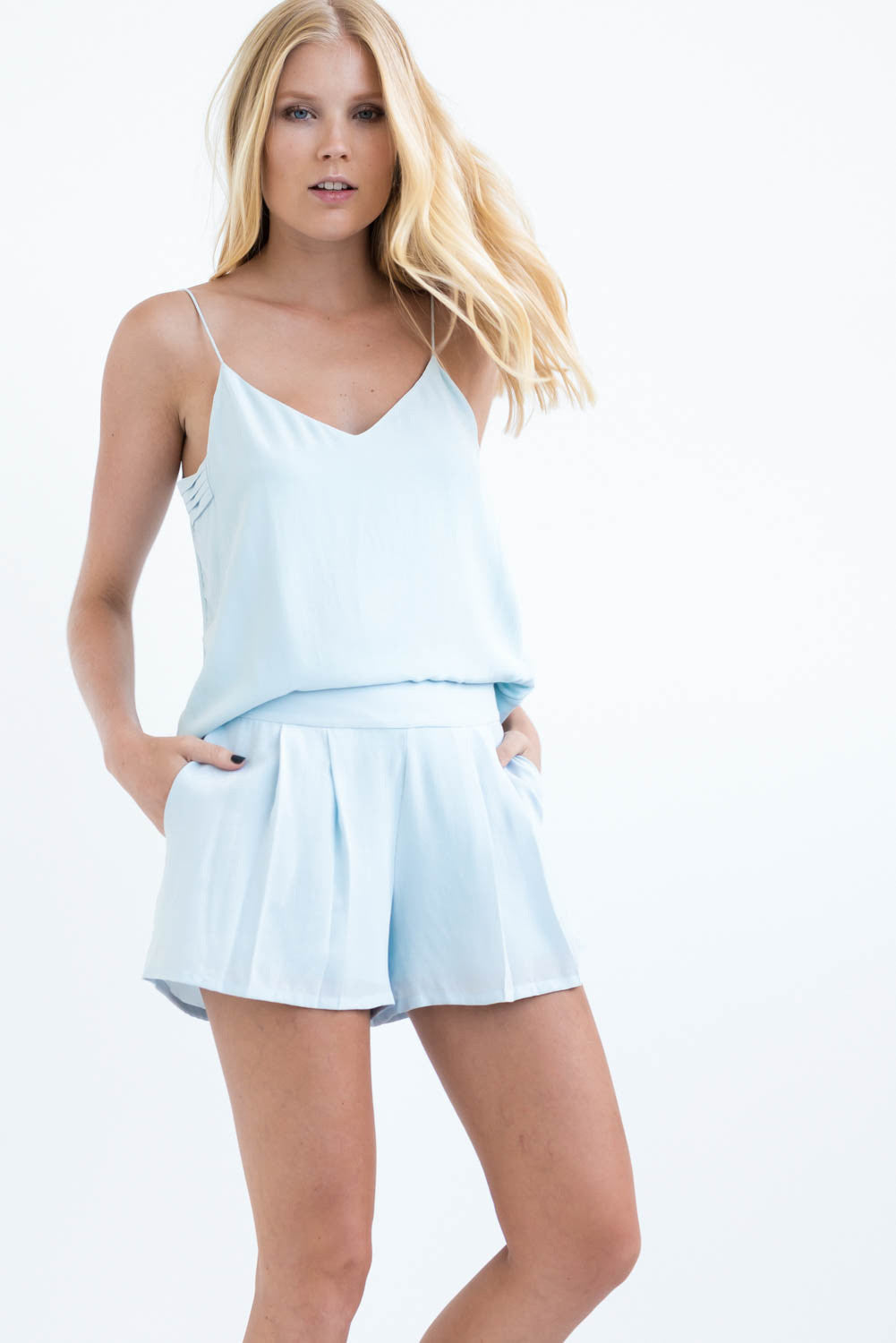 THE SLIP ON CAMISOLE - SKY BLUE