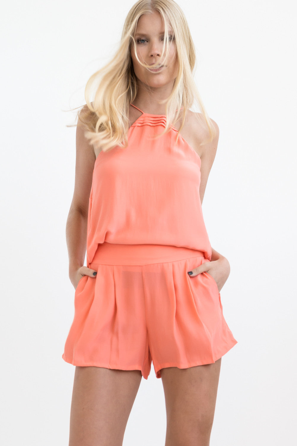TWO PIECE SET: CORAL 2 in 1 CAMISOLE