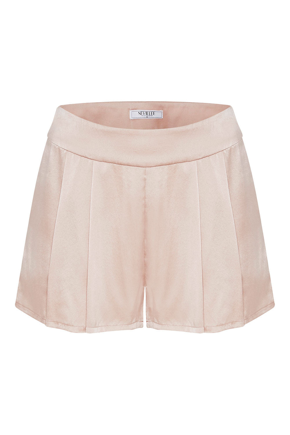 SILK SHORTS - BLUSH PINK