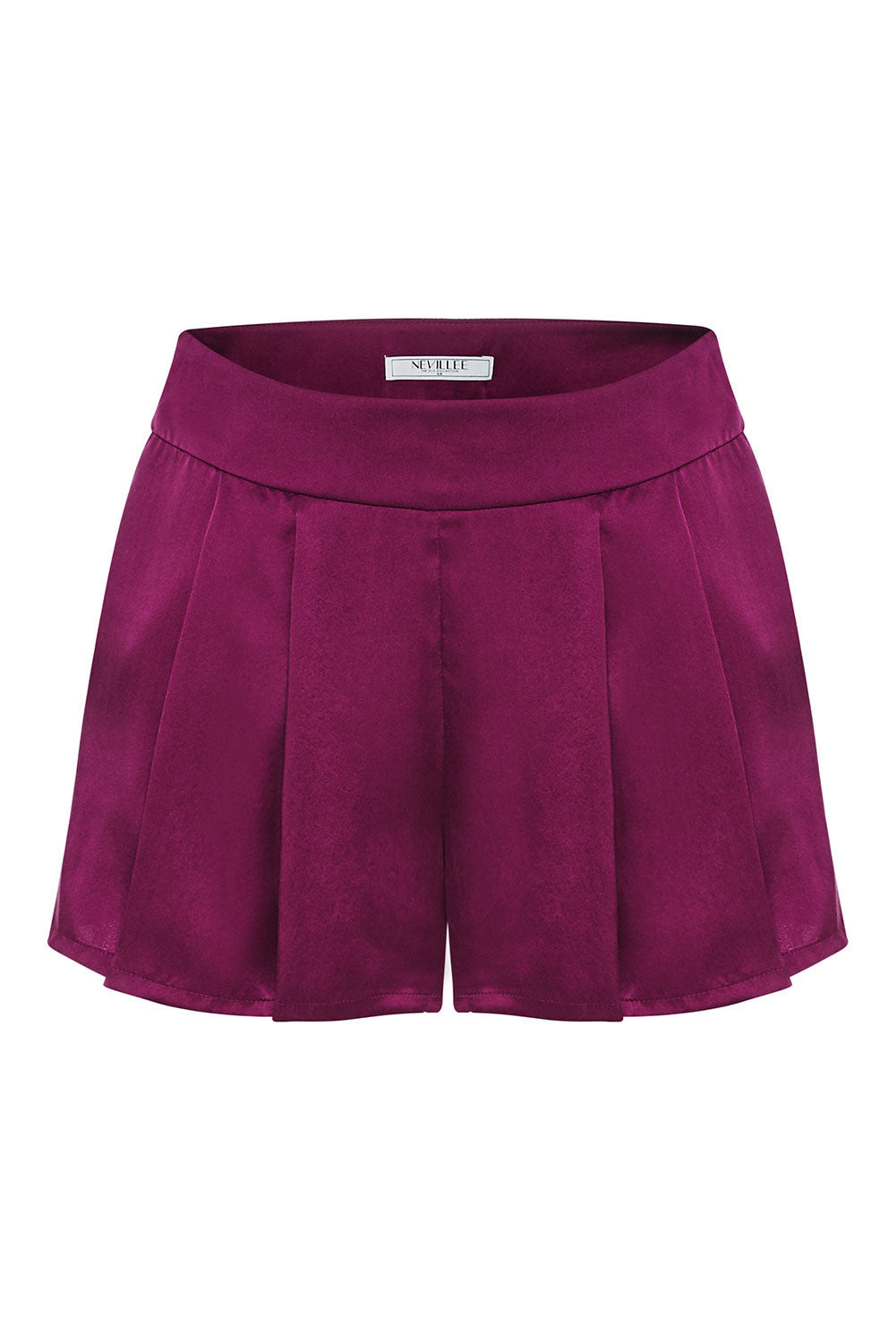 SILK SHORTS - RED WINE