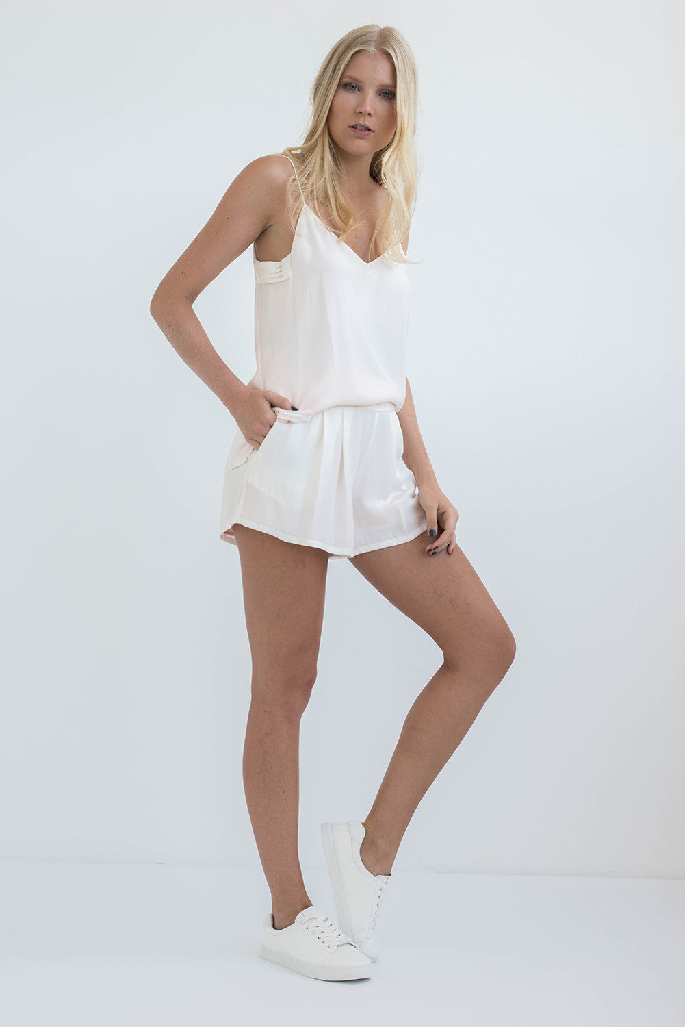 THE SLIP ON CAMISOLE - PEARL WHITE