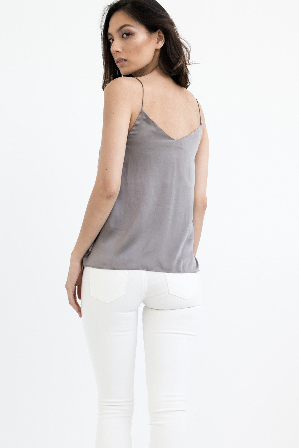 THE SLIP ON CAMISOLE - SILVER GREY FOX