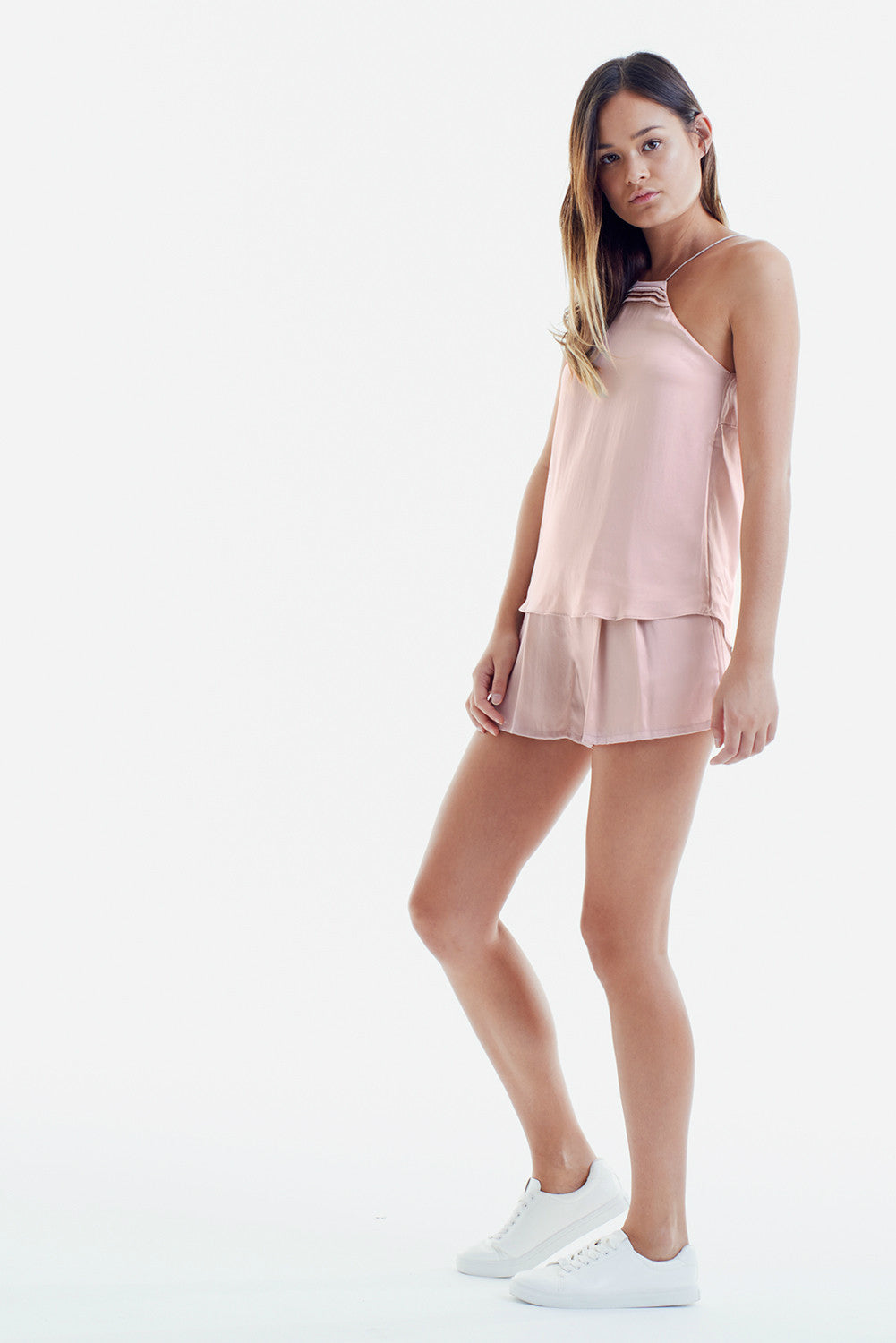 TWO PIECE SET: BLUSH PINK 2 in 1 CAMISOLE