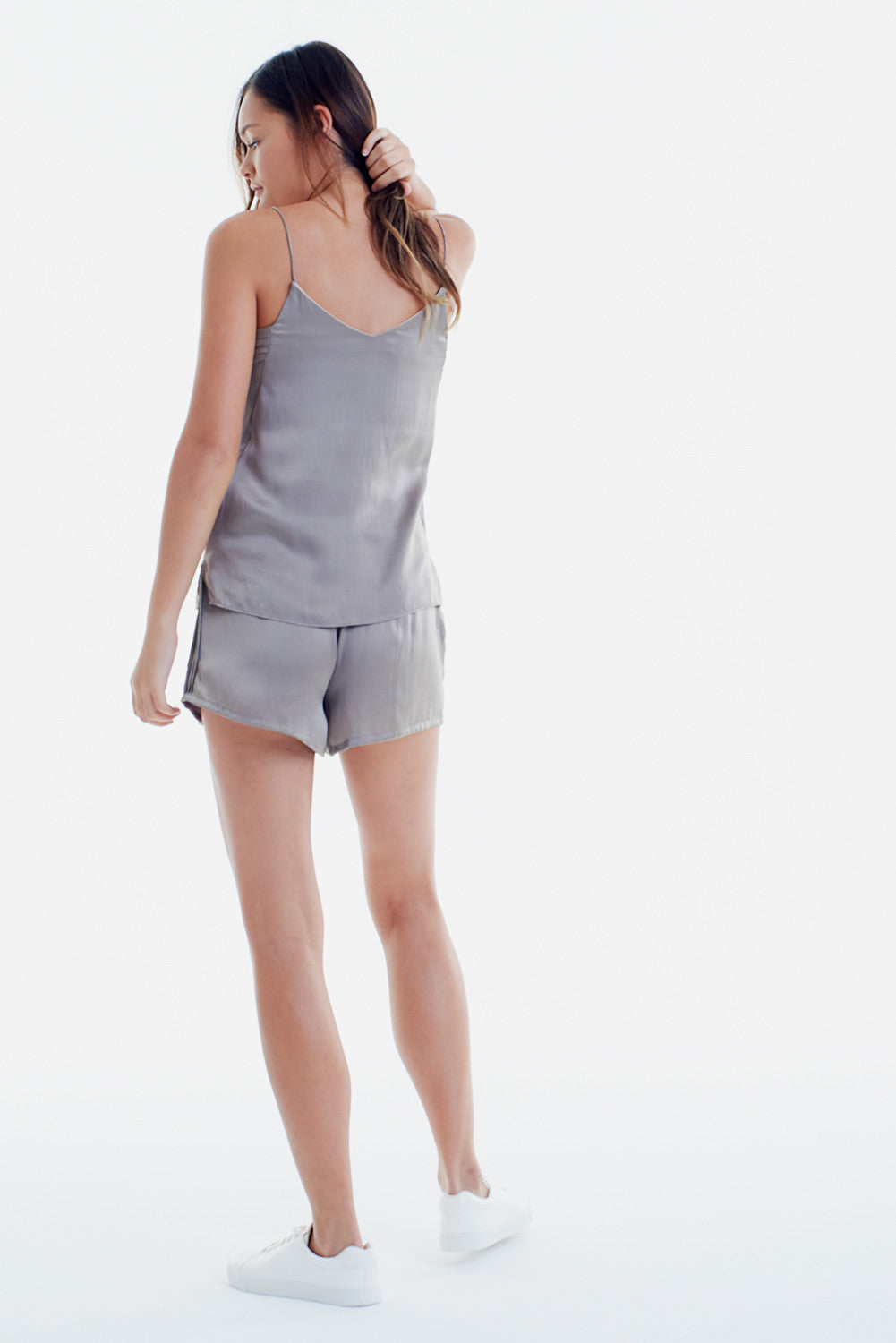 SILK SHORTS - SILVER GREY FOX