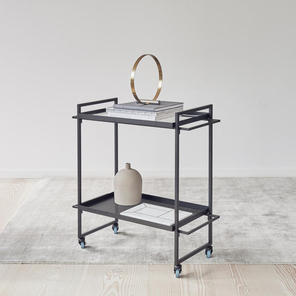 Capricho Bauhaus Trolley from Kristina Dam, used as a design object and magazine display