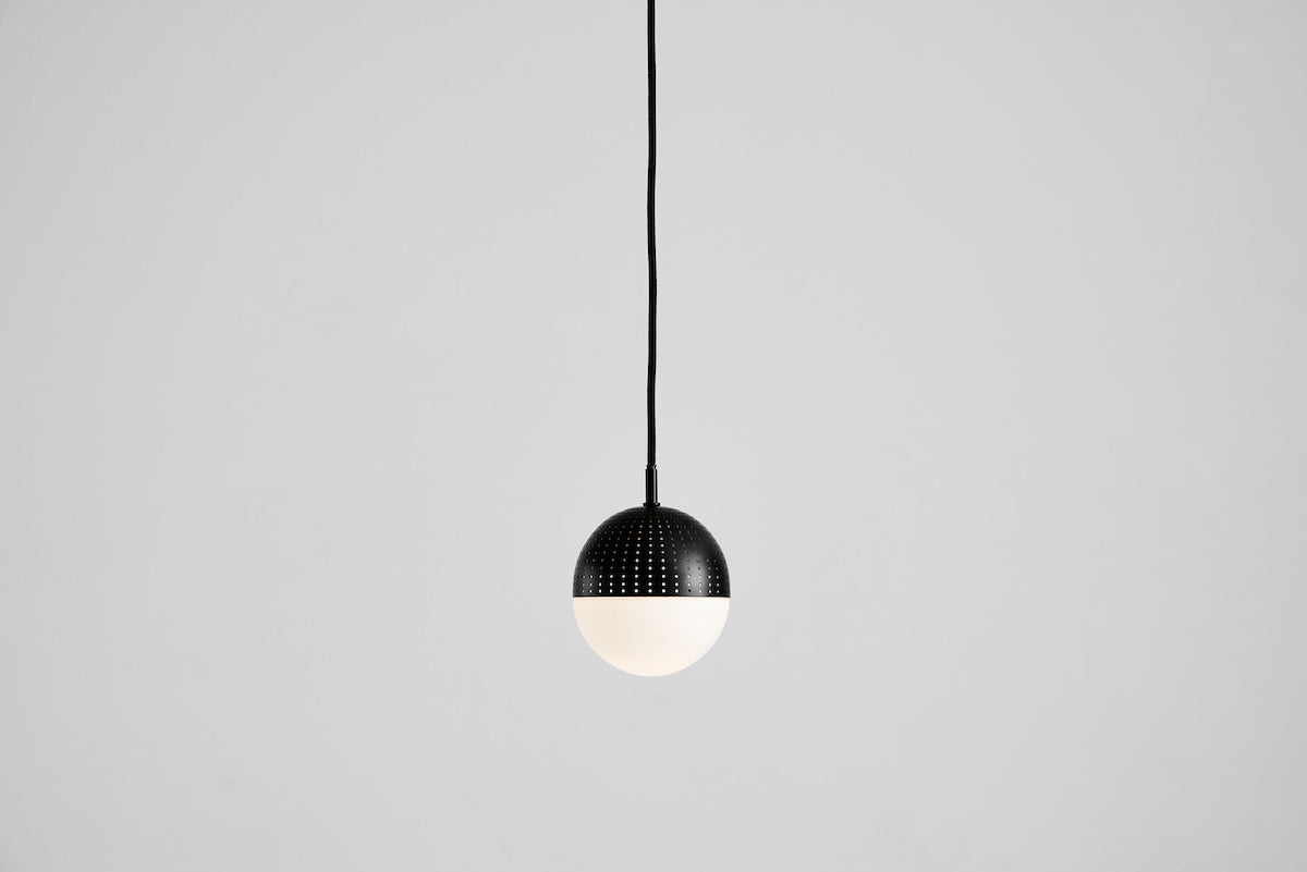Capricho, Dot Pendant Light, Black, Small, WOUD Design