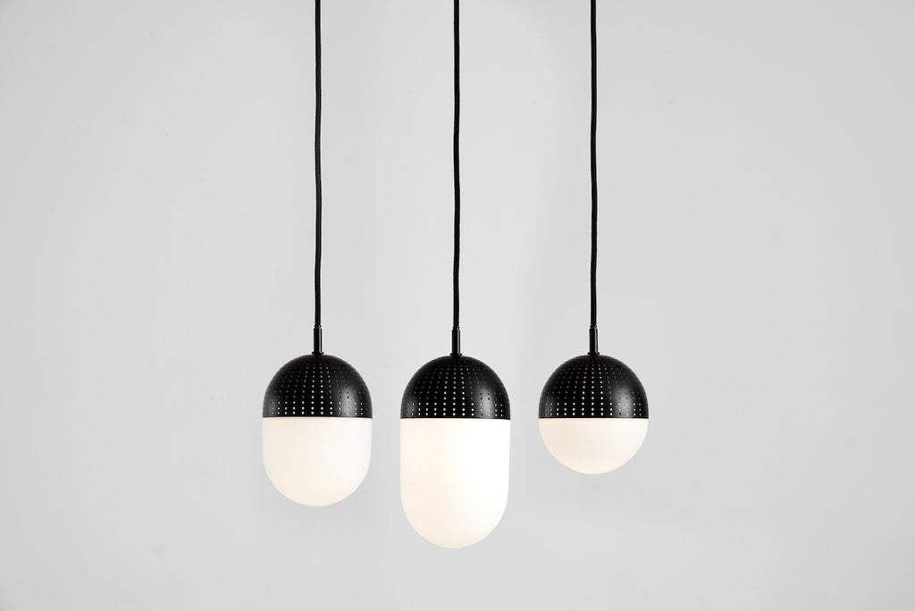 Capricho, Dot Pendant Light, Black, Small Medium and Large, WOUD Design