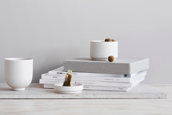 Capricho, Setomono Cup Set, styled with tea and books, Kristina Dam Studio