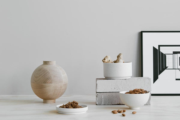 Capricho, Setomono Small Bowl Set styled with wooden Sphere, Kristina Dam Studio