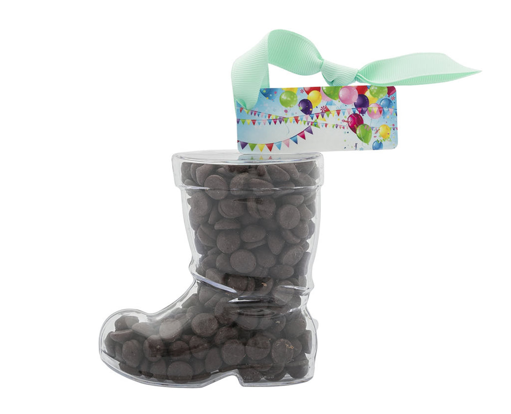 Plastic boot filled with chocolate buttons, Christmas Gift - 1