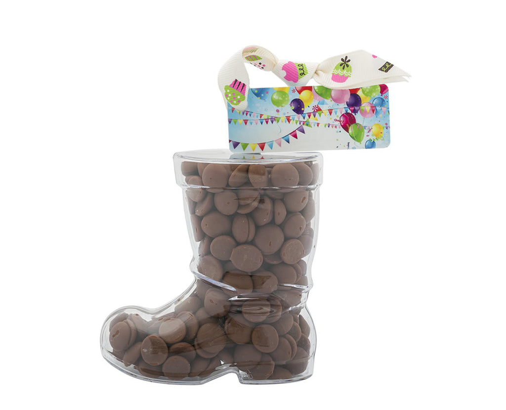 Plastic boot filled with chocolate buttons, Christmas Gift - 2